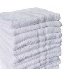 12 bright white hand towels 16x27 size salon gym and home use hotel collection