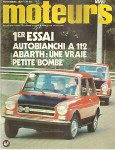MOTEURS 92 1971 R15 TL R17 TS ESCORT MEXICO A112 ABARTH TOUR AUTO GP CANADA USA