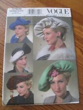 UNCUT VOGUE HATS VINTAGE Craft Sewing Pattern V7838 2003 Orig. $22.50 Can.
