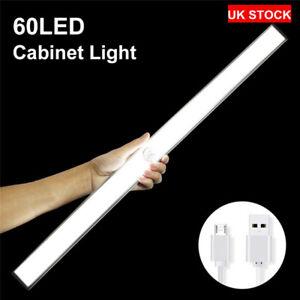 60 LED PIR Motion Sensor LED Night Light Battery Operated with Magnetic Strip UK