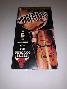 Chicago Bulls Unforgettabulls 1998 NBA Finals VHS Tape 6th Championship Season