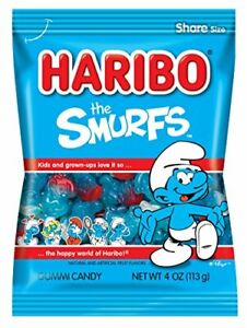 Haribo Candy, The Smurfs, 4 Ounce (1-Bag)