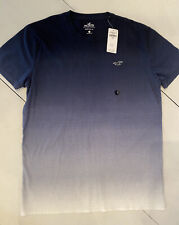 NWT Hollister Mens Small Crew Neck Tee Navy