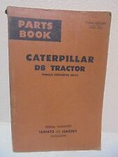 CAT Caterpillar D8 PARTS BOOK 15A1673 TO 15A3383 TORQUE CONVERTER DRIVE