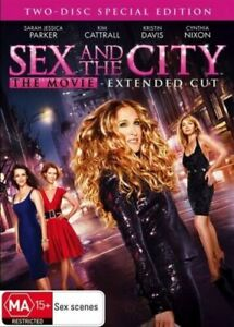 SEX AND THE CITY - THE MOVIE - EXTENDED CUT DVD  2 DISCS REGION 4 NEW AND SEALED