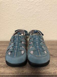 Drew Shoe Womens Element Blue Casual Flats Size 9.5