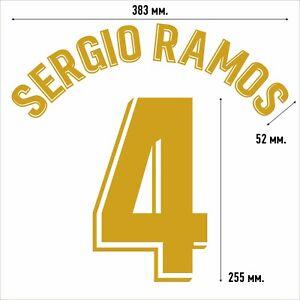 Sergio Ramos 4. Real Madrid Home football shirt 2019 2020 FLEX NAMESET NAME SET