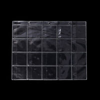 5 Pages 20 Pockets Plastic Coin Holders Storage Collection Money Album Case  JF