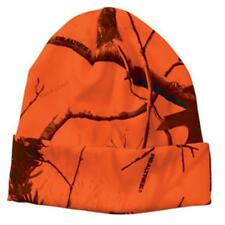 "Blaze Orange Camo Camouflage Realtree AP All Purpose 12"" Beanie Hat Cuff Hunting"