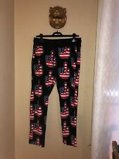 AUTHENTIC Love Moschino American Flag Finger  Pants Sweatpants Men's Size Small