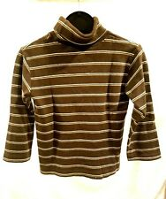 The Place 1989 Turtleneck Top Kids Clothing Size 4 XS Long Sleeve Vintage Brown