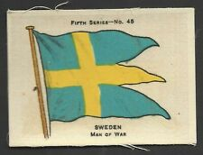 More details for ardath - flags 5th series (silk) - #45 sweden, man of war
