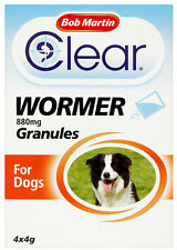 Bob Martin Clear Dewormer Granules for Dogs & Puppies 880mg Wormer FREEPOST