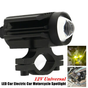 Car Electric Car Motorcycle Universal LED External U7 Lens Two-color Spotlight