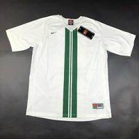 Nike Youth Boys XL White Green Shirt Jersey Soccer V Neck Dri Fit Black Tag NWT