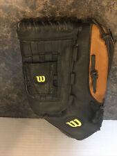 "Wilson Elite Black 14"" Softball Top Grade Genuine Leather Adult Glove WTA2444"