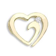 Heart Yellow Gold Diamond Fine Necklaces & Pendants