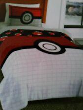 Pokemon reversible Quilt /bedspread Twin/ Full 2 piece set comforter