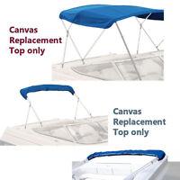 "Bimini Top Boat Cover Canvas Fabric Blue w/Boot Fits 4 BOW 96""L 54""H 61"" - 66""W"
