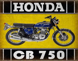 HONDA CB 750  MOTORCYCLE  METAL TIN SIGN POSTER WALL PLAQUE