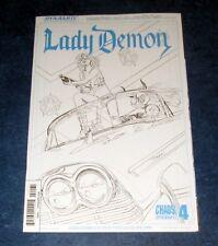 LADY DEMON 4 1:25 ART BOARD incentive variant MIKE MAYHEW LTD 50 DYNAMITE CHAOS