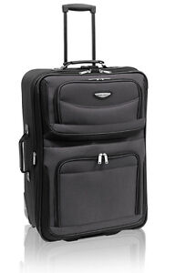 """Traveler's Choice Gray Amsterdam 25"""" Expandable Rolling Upright Luggage Suitcase"""