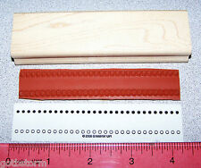 Circles Dots Border Rubber Stamp Single Solid Design Stampin Up All in a Row
