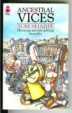 ANCESTRAL VICES by Tom Sharpe, rare British Pan humor satire gga pulp vintage pb