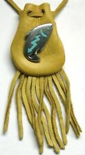 "Medicine bag  - Fish (yellow draw) ""long life and good fortune"""