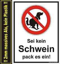 Hundehaufen, Tretmine, Schild Hund, Hundekot, Sei kein Schwein pack es ein!