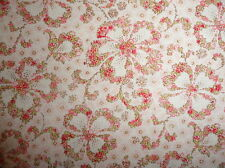 Daisy of Roses pink sage green cotton quilting fabric Quilt Gate Mary Rose 1 yd