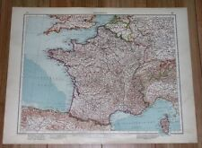1937 ORIGINAL VINTAGE MAP OF FRANCE / PARIS