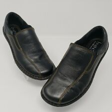 Born BOC Womens Size 7 M Athena Black Leather Slip On Loafers Born Concept