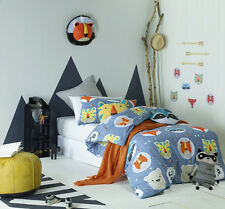 Funny Faces Queen Bed Boys Bedroom Quilt Cover Set Jiggle Giggle Doona Cover