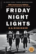 FRIDAY NIGHT LIGHTS by H. G. BISSINGER 25TH ANNIVERSARY EDITION FOOTBALL NEW