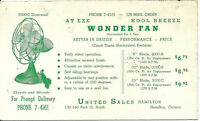 Vintage Ink Blotter United Sales Hamilton Ontario Canada At Eze Wonder Fan3