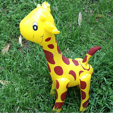 New Large Inflatable Giraffe Zoo Animal Blow Up Kids Toy Pool Party Decor jx