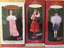 HALLMARK BARBIE DOLL CHRISTMAS TREE ORNAMENTS Russian, Gay, Enchanted LOT of 3