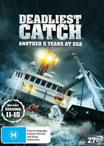 Deadliest Catch Season 11, 12, 13, 14, 15 DVD | Another 5 Years at Sea | PAL / 0