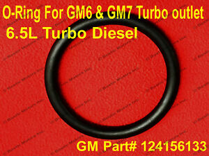 Turbo Outlet O Ring Seal AM General 6.5L GM6 GM7 Gasket 12456133 Intake Manifold