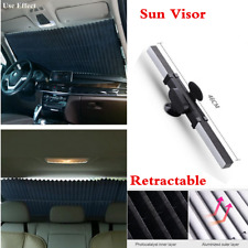 130x46cm Car Retractable Front Rear Windshield Sunshad Sun Visor UV Protection