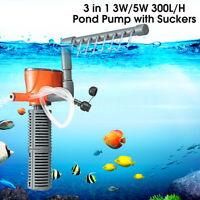 300L/h Aquarium Internal Filter Oxygen Submersible Fish Tank Water Pump