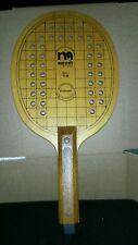 Vintage Wood Paddleball Paddle Ball Tennis Marcraft PT-60 Wooden Racket Racquet
