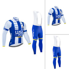 MTB Men's Cycling Jersey Bib Pants Set Bike Shirt Tights Kits Long Zip Quick Dry