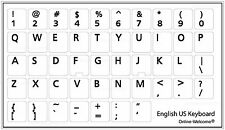 ENGLISH US KEYBOARD STICKER FOR COMPUTER LAPTOP WHITE BACKGROUND NON TRANSPARENT