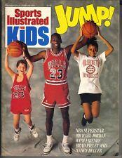 Michael Jordan Deportes Illustrated para Niños Revista 1/89 Premier con / Póster