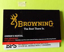 "Browning 3"" BPS Pump Action Shotgun 12 & 20 Ga. Owner's Manual - 16 pages info"