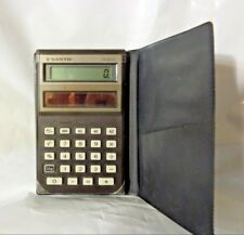 Vintage Sanyo CX-2570 Solar Calculator w/ Case