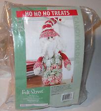 Felt Street HO HO HO Treats Candy Holder Kit NEW