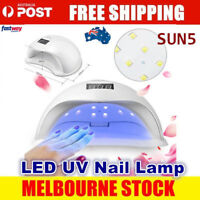 New SUN5 48W LED UV Nail Lamp Light Gel Polish Dryer Manicure Art Curing AU Plug